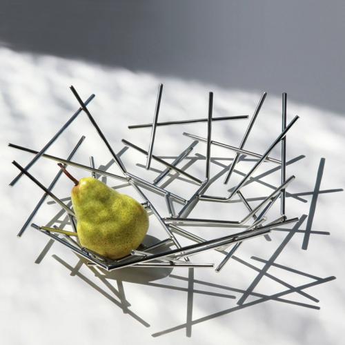 Фруктовница (ваза для фруктов) Blow Up Alessi Полированная сталь