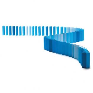 Карточное домино Topple Monkey Business Синие