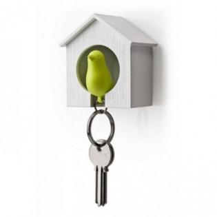 Ключница настенная и брелок для ключей Sparrow Qualy Белый / Зеленый