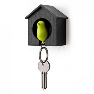 Ключница настенная и брелок для ключей Sparrow Qualy Черный / Зеленый
