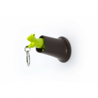 Ключница настенная и брелок для ключей Squirrel Qualy Коричневый / Зеленый