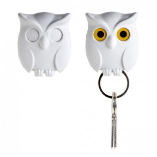 Ключница настенная Night Owl Qualy Белая