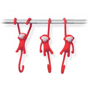 Крючки для кухни Just Hanging Monkey Business Красные