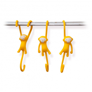 Крючки для кухни Just Hanging Monkey Business Желтые