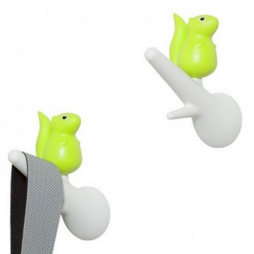 Крючки настенные Hook Squirrel Qualy Белый / Зеленый