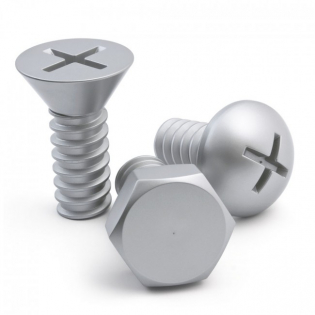 Крючки настенные Screw Collection Qualy Silver