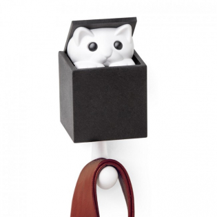 Крючок настенный Kitt-a-boo Qualy Белый / Черный