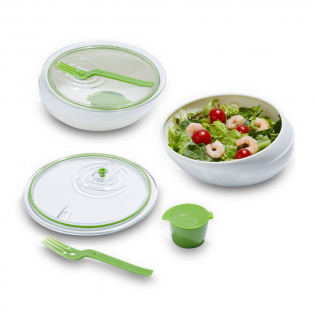 Ланч бокс круглый Lunch Bowl Black+Blum Белый / Зеленый