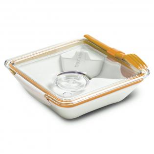 Ланч бокс квадратный Box Appetit Black+Blum Белый / Оранжевый
