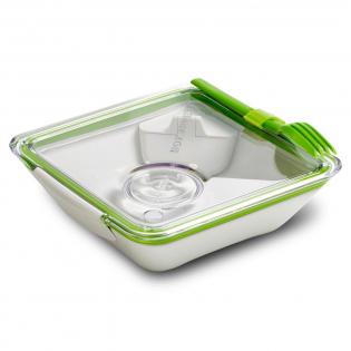 Ланч бокс квадратный Box Appetit Black+Blum Белый / Зеленый