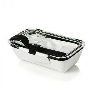 Ланч бокс прямоугольный Bento Box Black+Blum Белый / Черный