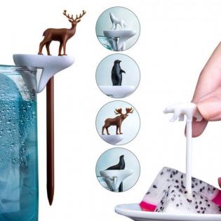 Маркеры для бокалов и шпажки Cool Party Animal Qualy