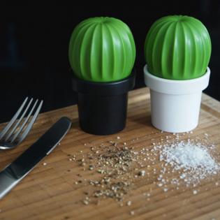 Мельница для соли или перца Tasty Cactus Qualy Белая / Зеленая