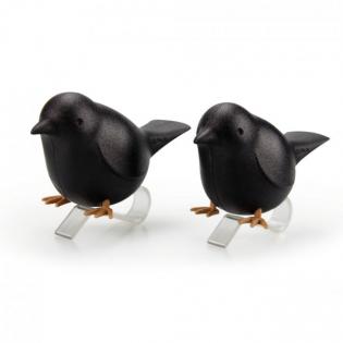 Набор держателей для салфеток Sparrow Napkin Qualy Черный