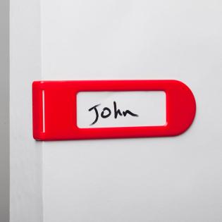 Набор дверных бирок Doortag Monkey Business Красный