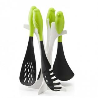 Набор кухонных принадлежностей Sparrow Serving Set Qualy Зеленый