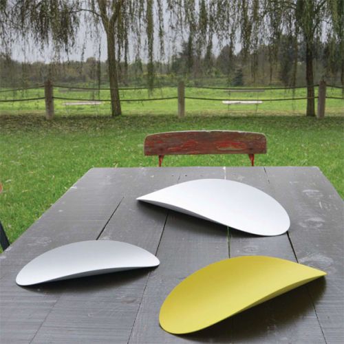 Набор подносов 3 шт. Ellipse Alessi Белый / Желтый