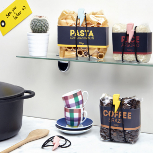 Набор резинок для хранения продуктов в пакетах Flashy Rocket Design