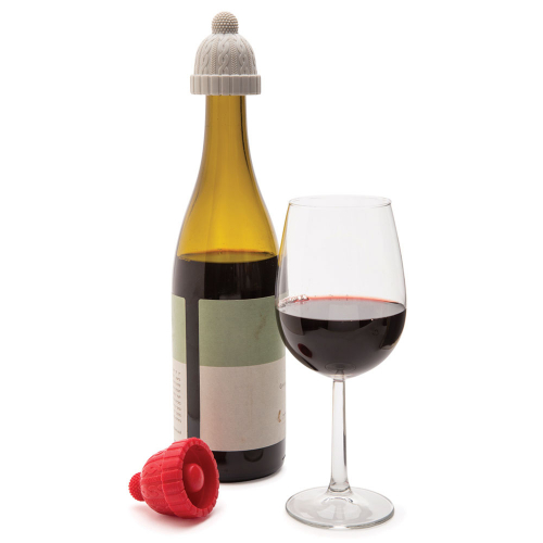 Набор стопперов для бутылок Beanie Monkey Business Красный / Серый