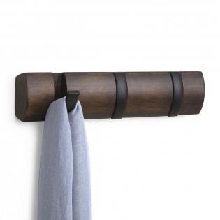 Настенная вешалка 3 Flip Umbra Черная / Walnut
