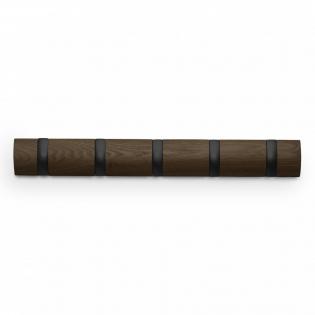 Настенная вешалка 5 Flip Umbra Черная / Walnut