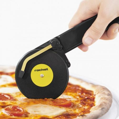 Нож для пиццы Top Spin Rocket Design Черный