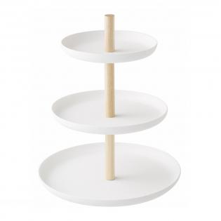Подставка для десертов Tosca 3 Tier Yamazaki Белая