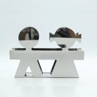 Подставка для писем / салфеток Girotondo Alessi Полированная сталь