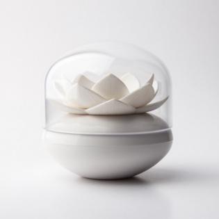 Подставка для ватных палочек Lotus Cotton Bud Qualy Белая / Белая