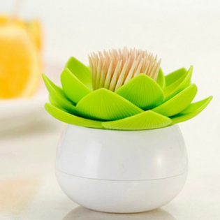 Подставка для зубочисток Lotus Qualy Белая / Зеленая