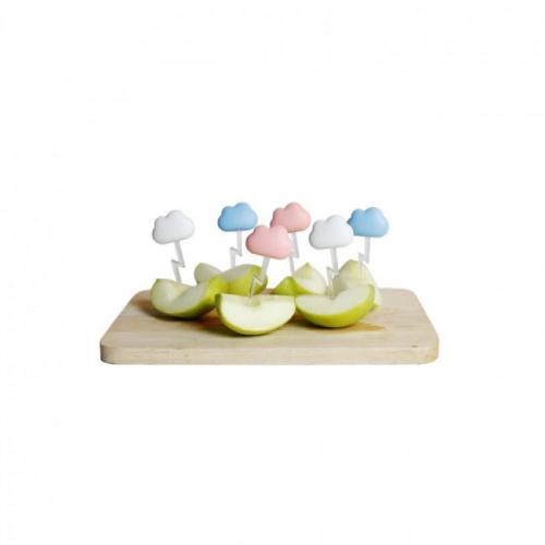 Шпажки для закусок и канапе Cloud Qualy Голубые / Розовые