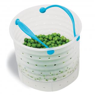 Силиконовый контейнер для варки овощей Vebo Dreamfarm Голубой
