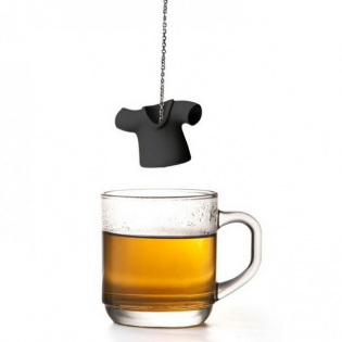 Силиконовый заварник для чая Tea Shirt Qualy Черный