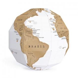 Скретч глобус 3D World Map Scratch Globe Luckies
