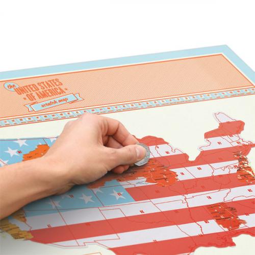 Скретч карта США Scratch Map USA Edition Luckies