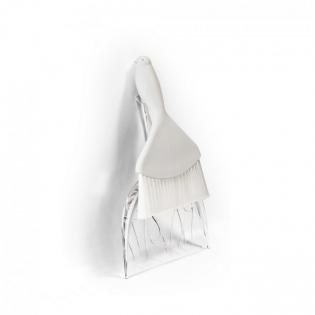 Совок и щетка для уборки Sweepie Sparrow Qualy Белый