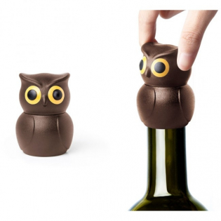 Стоппер для бутылки Owl Stopper Qualy Коричневый