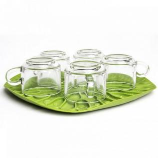 Сушка для посуды / поднос Bai Bua Tray Qualy Зеленая