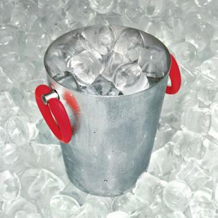 Ведерко для льда Little Pop Moon Alessi Красный / Полированная сталь