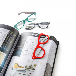 Закладка для книги Reading Glasses Donkey Красная